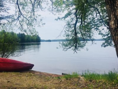 Muskoka Canoe On Lake